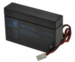 MW0.8-12 Akumulator firmy MW Power 0.8 Ah - 12 V [wym.: 96x25x62mm]